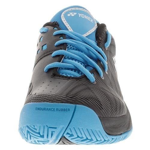 Yonex-Men`s Power Cushion Fusion Rev Tennis Shoes Black and Sky Blue-(0082351312