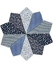XQWLP 10 unids Moda cuadrada de algodón enrejado pañuelo para hombre el regalo de año nuevo colorido para mujeres hombres damas accesorios diarios (Color : C)