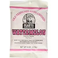 Claeys Old Fashioned Hard Candies 2.25 lb total (Six in number, with a quantiry of 6-oz bag) (Watermelon)