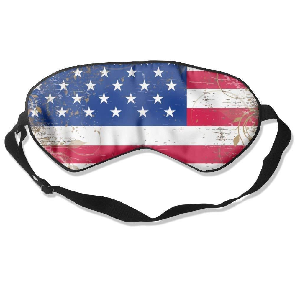 Dietok Sleeping Mask American Flag Wood Unisex Eye Mask Cover Eyeshade