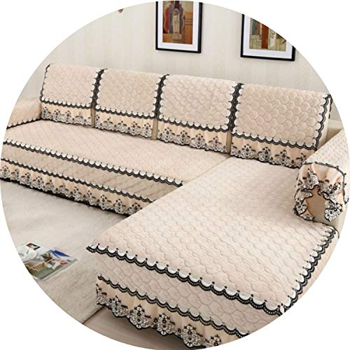 Price comparison product image I'm good at you Multi-Size Simple Design Sofa Cover with 4 Colors Solid Couch Cushion for Living Room S-61, 01, 100cmx180cm Towel