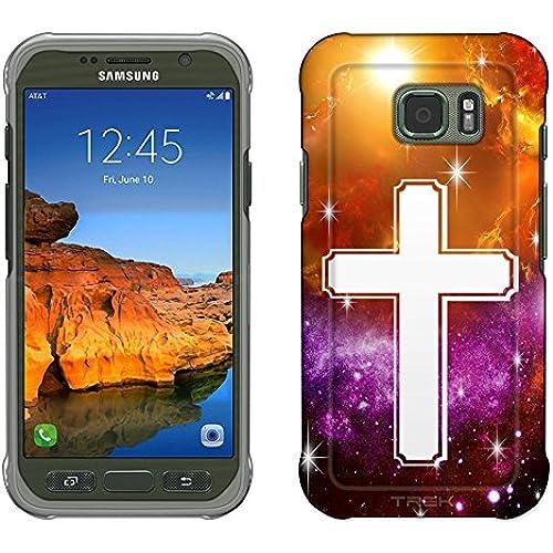 Samsung Galaxy S7 Active Case, Snap On Cover by Trek Cross on Nebula Yellow Purple Slim Case Sales