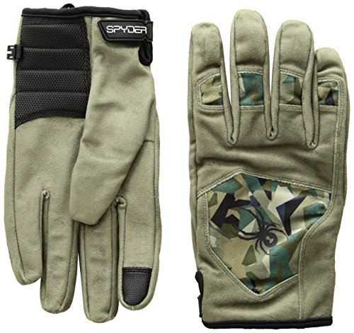 Spyder Men's Park-N-Pipe Ski Glove, Guard/Guard Camo Print, Small - Mens Pipe Glove