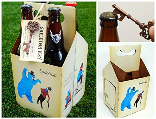 Beer Carrier with Bottle Opener for Craft Beer - Pack of 2 Carriers (22 Oz Beer Bottle Carrier compare prices)
