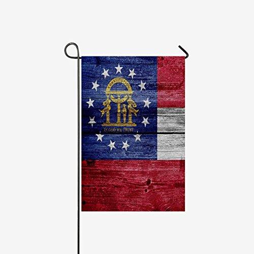 Georgia State Flag  On Old Wood Background Garden Flag Decor