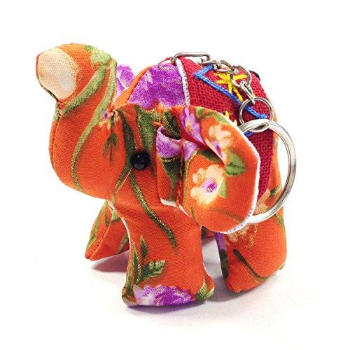 (Wrapables Handmade Thai Elephant Keychain, Orange)