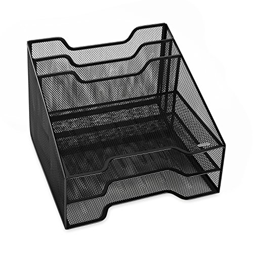 Rolodex Combination Sorter, Five Sections, Mesh, 12 1/2''x11 1/2''x9 1/2'', Black (1742322) by Rolodex