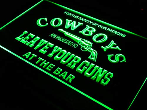 ADVPRO Cartel Luminoso i783-g Cowboys Leave Guns Bar Beer ...