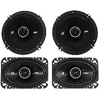 Package: Pair of Kicker 43DSC4604 120 Watt 4x6 2-Way Car Stereo Speakers + Pair of Kicker 43DSC6504 6.5 240 Watt 2-Way Coax Car Stereo Speakers