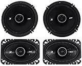 Package: Pair of Kicker 43DSC4604 120 Watt 4x6 2-Way Car Stereo Speakers + Pair of Kicker 43DSC6504 6.5'' 240 Watt 2-Way Coax Car Stereo Speakers