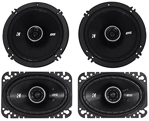 Package: Pair of Kicker 43DSC4604 120 Watt 4x6 2-Way Car Stereo Speakers + Pair of Kicker 43DSC6504 6.5