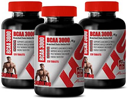pre Workout Amino Energy - BRANCHED Chain Amino Acid - BCAA 3000MG - bcaa Muscle and Strength - 3 Bottles 360 Tablets