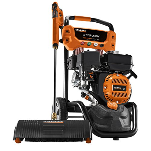 Generac SpeedWash 7122 3200 PSI 2.7 GPM 196cc Gas Powered Pressure Washer System with Attachments (Industrial Hot Water Power Washer)