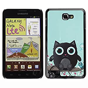 YOYO Slim PC / Aluminium Case Cover Armor Shell Portection //Cute Cat Creature //Samsung Note
