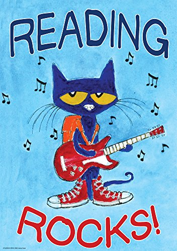 Edupress EP63930 Pete the Cat Reading Rocks Positive Poster