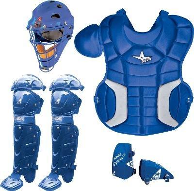 AllStar Player's Series 9-12 Catcher's Set , Royal Blue