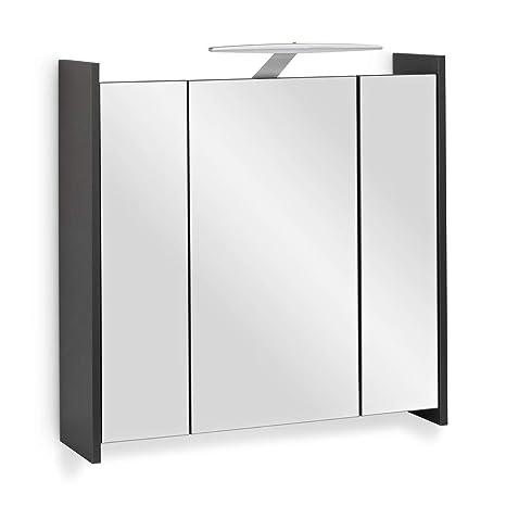 Amazon.de: Galdem Elegance Spiegelschrank 70cm Badezimmerschrank ...