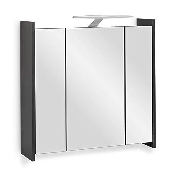 Amazonde Galdem Elegance Spiegelschrank 70cm Badezimmerschrank