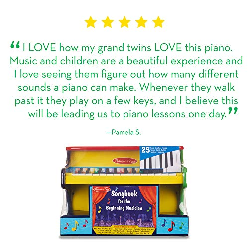 Melissa Doug Learn To Play Piano Musical Instruments Solid Wood Construction 25 Keys And 2 Full Octaves 11 5 H X 9 5 W X 16 L