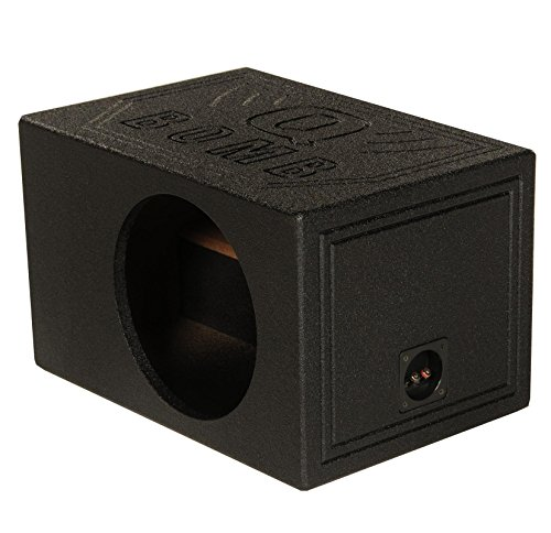 Q Power QBOMB12VL SINGLE Single 12-Inch Side Ported Speaker Box with Durable Bed Liner Spray (12 Vented Sub Box)