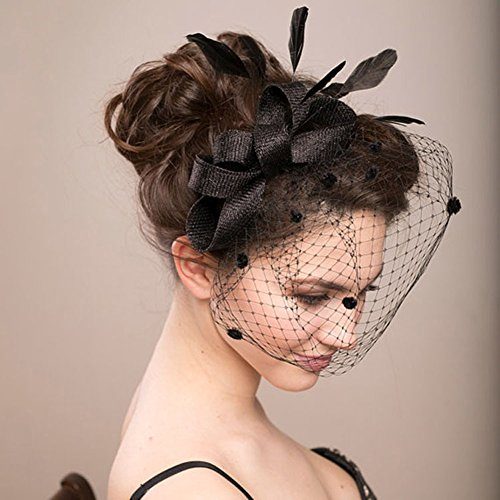 wedding-headdress-feather-bowknot-net-mesh-fascinator-hair-clip-and-cocktail-hat-black