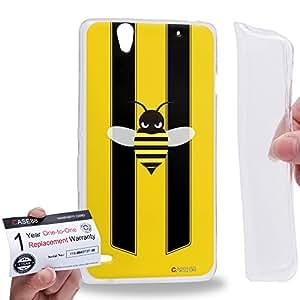 Case88 [Sony Xperia C4 / C4 Dual] Gel TPU Carcasa/Funda & Tarjeta de garantía - Art Fashion Little Bumblebee A