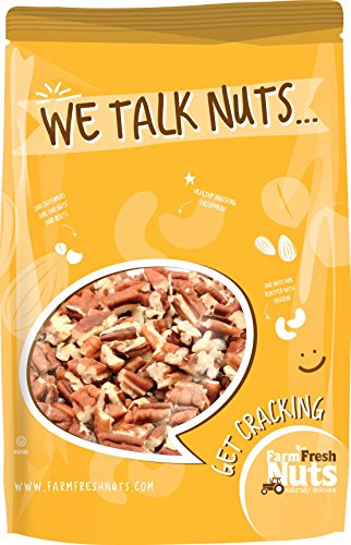 Farm Fresh Nuts Pecans Raw Chopped ~ Raw Pecan Pieces(1 LB)