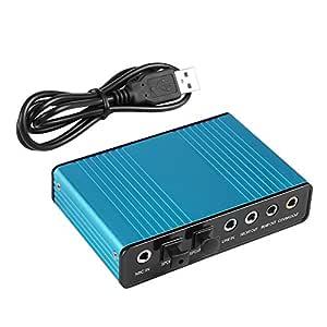 VAlinks 6 canales Tarjeta de sonido externa 5.1 Surround ...