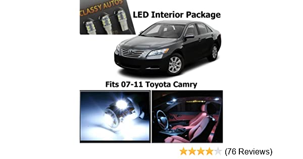 Amazon.com: Classy Autos Toyota Camry White Interior LED Package (6 Pieces): Automotive