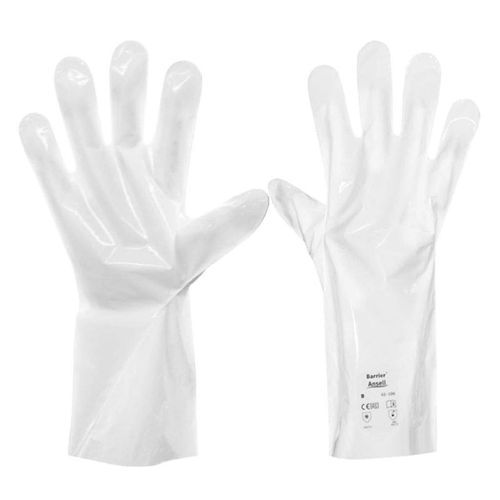 SHWSM Composite Film Anti-Chemical Gloves Chemical Laboratory Professional Gloves, Acid and Alkali Ketone Anti-Banana Water Labor Protection Gloves (Size : M)