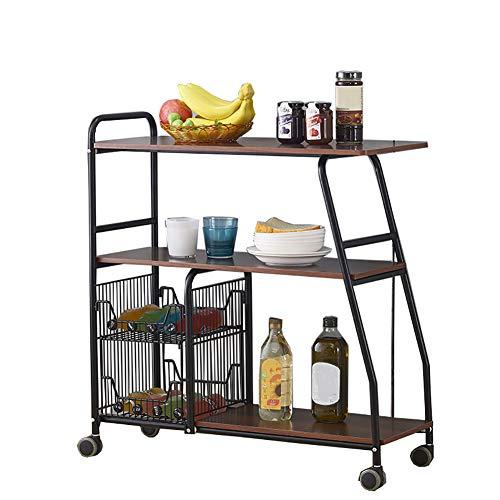 rentongye Rack de Cocina Rack de Horno de microondas, Rack Trolley Gabinete de Almacenamiento de múltiples Capas Cargue 70...
