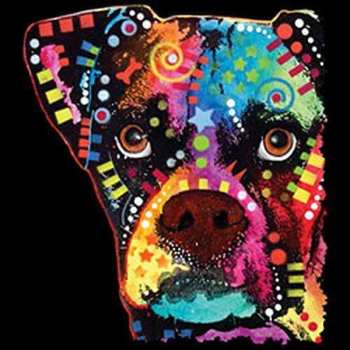 Boxer/Umhängetasche/Tasche-Vintagelook mit Dog-Neon-Druck: Boxer Cubism für Hundefreunde