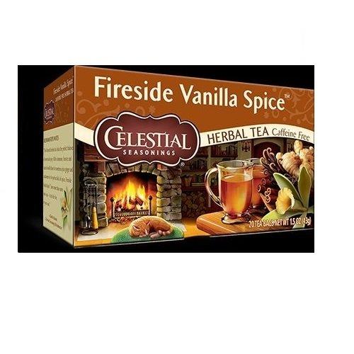 Celestial Seasonings Fireside Vanilla Spice Single Box of 20 (Pack of 3)