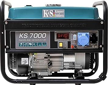 Generator Werkstatt E-Start 13 PS 4-Takt Benzinmotor Notstromautomatik f/ür Haus 230V Automatischer Spannungsregler 1x16A 1x32A K/önner /& S/öhnen KS 7000E ATS Stromerzeuger Anzeige Garage
