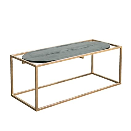 Amazoncom Xbbz Golden Wrought Iron Side Table Nordic Minimalist