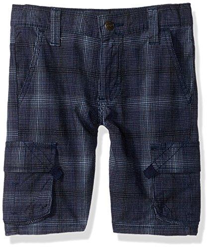 Wrangler Authentics Big Boys' Fashion Plaid Cargo Short, Blue, 18H
