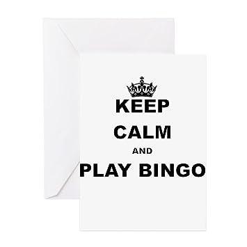 Cafepress Keep Calm And Play Bingo Greeting Cards Greeting Card