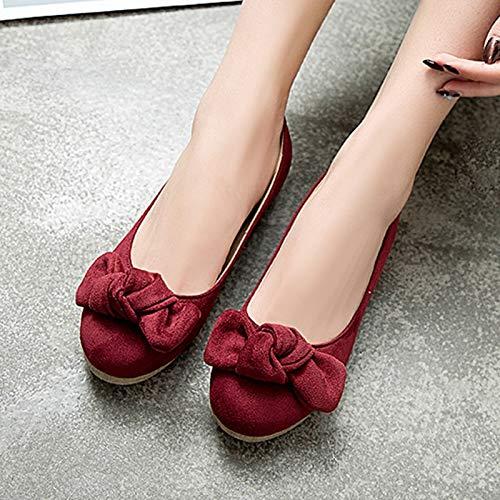 MENGLTX High Heels Sandalen 2019 Heißer Frauen Flache Schuhe Runde Kappe Flache Sommer Einzelne Schuhe Bowknot Bequeme Freizeitschuhe Frau B07QKZQXFT Sport- & Outdoorschuhe Schnäppchen