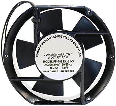 CUHAWUDBA Ventilador Axial FP-108EX-S1-B 220V 38W Ventilador de RefrigeracióN de Doble Rodamiento Ovalado 172X150X51Mm: Amazon.es: Hogar