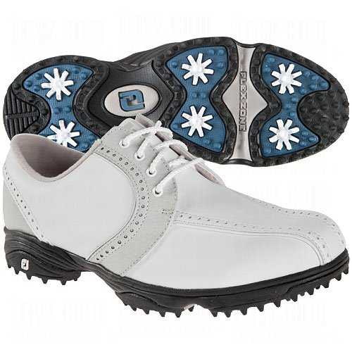 FootJoy Ladies GreenJoys Saddle Golf Shoes White/Cloud 9.5 Medium ()