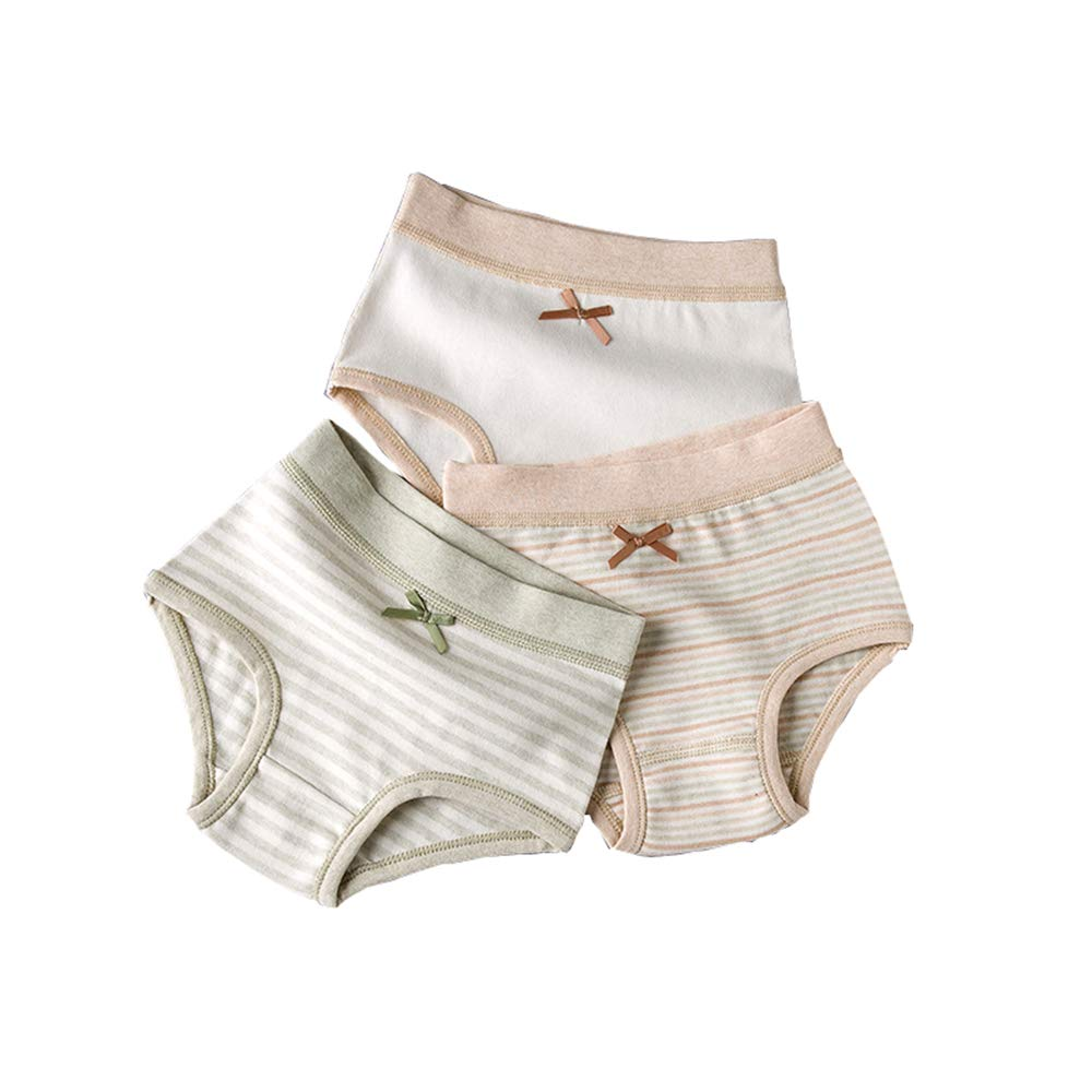AUIE SAOSA Child Girls Briefs Colored Cotton Underwear 3 Pack Pants
