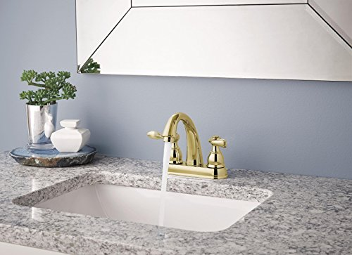 Polished Brass Bathroom Faucets | Two Handle Centerset Faucet Reviews