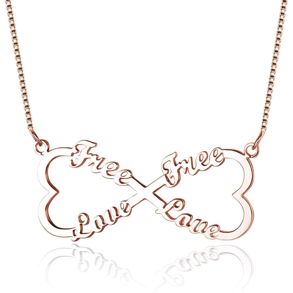 Infinity Personalized Sterling Silver Name Necklace