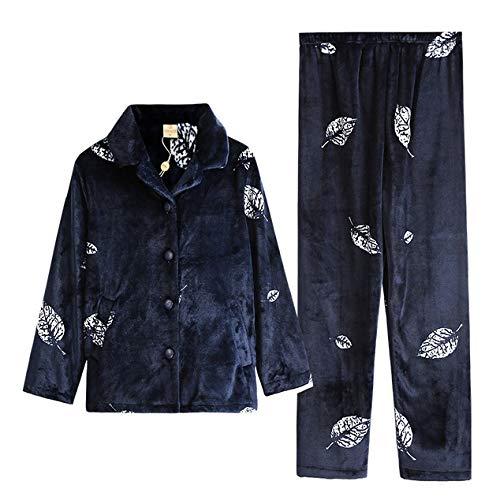 Caldo Set Top Da Luxury Blue Pajama Lunghe A Inverno Da Donna SuperSoft Maniche Da Pantaloni PJ's Notte Indumenti E Ladies Stampa Notte FOXqPtOn