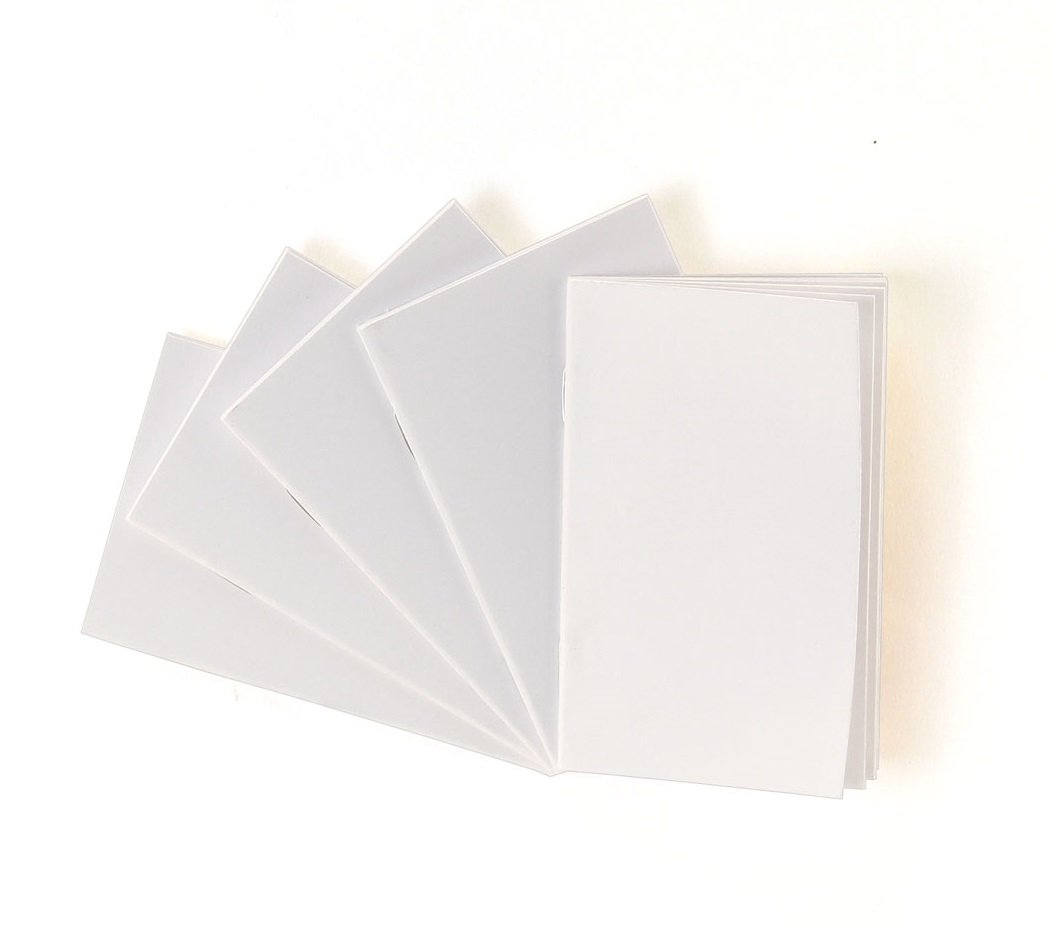 Hygloss Products White Blank Books - Great Books for Journaling, Sketching, Writing & More - Great for Arts & Crafts - 5.5 x 8.5 Inches - 100 Pack by Hygloss
