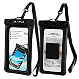 zeraca Universal Floating Waterproof iPhone Case IPX8 TPU Dry Bag for iPhone 8/8plus/7/7plus/6s/6/6s Plus Samsung Galaxy s8/s7 LG V20 Google Pixel HTC10 Black