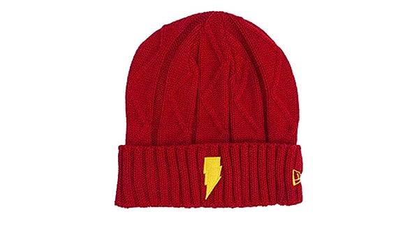 687433816a6 New Era Shazam Symbol Lightning Weave Unisex Knit Beanie at Amazon Men s  Clothing store