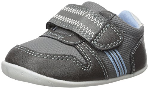 Carter's Every Step Boys' Stage 2 Stand, Jamison-SB Sneaker, Grey,3.5 M US (6-9 Months)