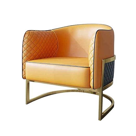 YQQ-sofá Perezoso Sillón Simple Moderno Silla Balcón Cuero ...