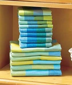 Amazon Com Kitchen Towel Cotton 14 Piece Woven Kitchen